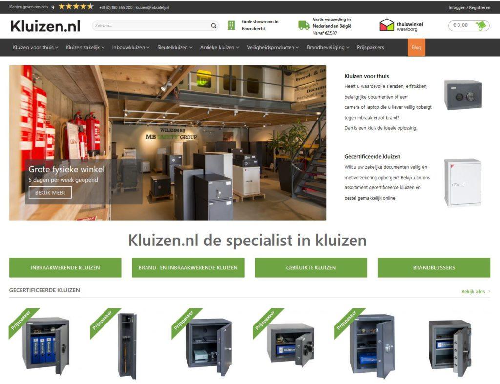 Nieuwe webshop Kluizen.nl